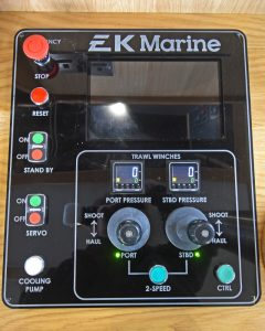 … incorporates a winch control panel supplied by EK Marine…