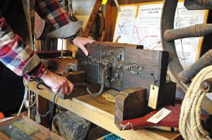 … to a 1682 rope-making machine…