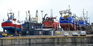 Fraserburgh's modern shiplift and six-berth refit facility attracts a wide range of local and visiting vessels.