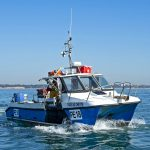 22. Skipper Matt Wiles on Chloe and Christie PE 18. Built by Cheetah Marine in 2010, the 8.5m catamaran is powered by twin Selva 40XS outboard engines, and usually fishes off Hengistbury Head, Dorset.