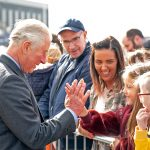 HRH delighted the large crowd that gathered outside the new fishmarket.