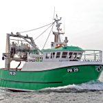 Joyful Spirit on sea trials from Polruan.