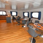 37 The spacious messdeck...