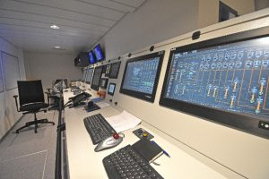 Engine control room…