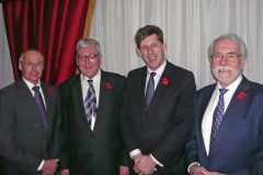 Speakers at the SFF dinner in Edinburgh last week, left to right: Ian Gatt, Fergus Ewing, Lord Ian Duncan and Bertie Armstrong.