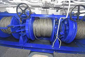 A 35t three-drum trawl winch was part of a full package of deck machinery supplied by EK Marine…