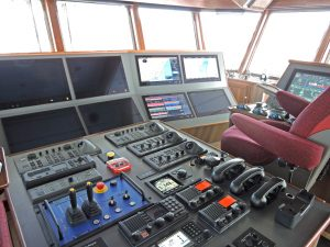 Main forward and island wheelhouse consoles.
