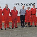 05 Western Chieftain's crew, from left to right: Paul Hegarty, Christopher Doherty, Niall Doherty, Seamus Curran, Michael Wincup, Charlie Doherty (skipper), Gareth Murphy (mate), Joe Doherty and Dermot McNeilis.