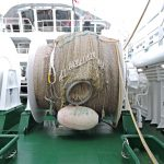 … and net drums mounted on the shelterdeck.