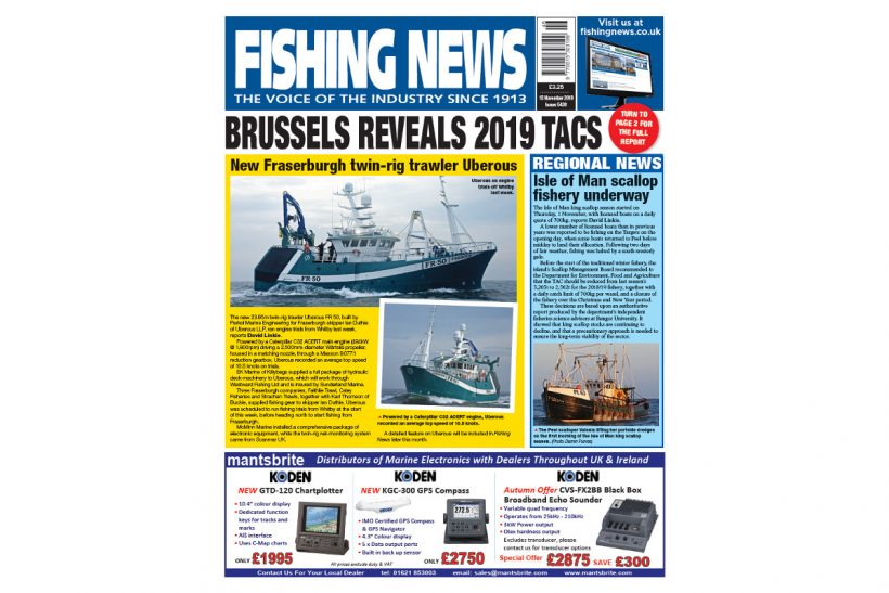 New Issue: Fishing News 15.11.18