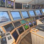 An extensive array of information is displayed in the wheelhouse console.