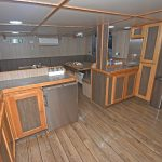 … and messdeck, which extends the full length of the deckhouse on the port side of the main deck.
