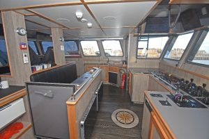 … installed in the superbly finished wheelhouse.