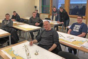Shetland fishermen attending a Seafish five-day bridge watch-keeping course.