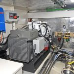 A SCAM diesel 17kVa generator lies to port of the main engine…
