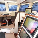 … and port views in the wheelhouse.