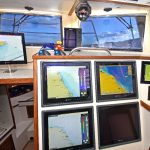 High-tech seabed mapping and plotting systems feature prominently in the well-equipped wheelhouse.