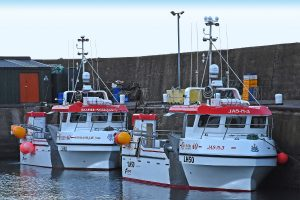 Soph-Ash-Jay 3 and JAS-N 3 alongside in the outer harbour.
