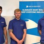 Aquamare Marine service technicians Carl Pook, Luke Wilcox and Lee Jones in Lavagna, Italy…