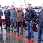 The crew of Fiona K III, left to right: Larry Miler, Stephen Connaghan, Donal Kennedy, skipper Tom Kennedy, Diarmuid O'Neil and David O'Neil.