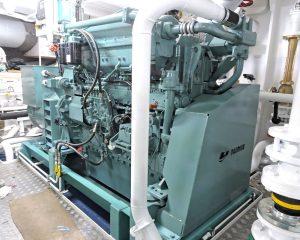 … and Mitsubishi auxiliaries driving Stamford generators.
