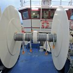 Two sets of trawls can be worked off each of the 2 x 12.5t split net drums.