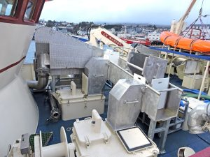 ‡ The fish dewatering unit was designed and fabricated by Mooney Boats.