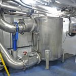 The vacuum discharge tank…