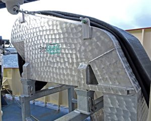 … and landing delivery chute, supplied by SeaQuest Systems.