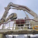 EK Marine manufactured the knuckle-boom crane mounted on the trawl gantry…