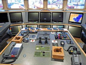 The centre console.