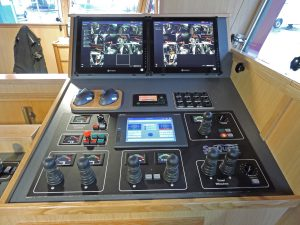 Every item of SeaQuest deck machinery on Fiona K III can be operated from the fishing console, which includes a SeaQuest autotrawl system.
