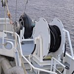 … which is rigged for pumping pelagic fish aft.