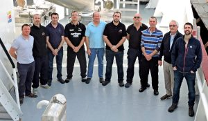 Girl Stephanie's crew, from left to right: John Paul Flaherty, Conal McBrearty, Stephen McCallig, Martin Murrin, Mike Dillane, David Kelly, Ciaran Cunningham, Peter Boston, Pauric Conneely and Tomás Conneely.