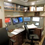 The engine control room is located to port on the main deck.