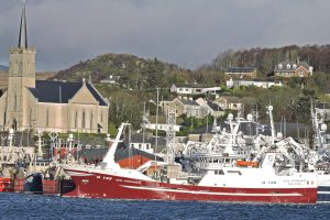 Girl Stephanie berthed at Killybegs, following a stormy delivery passage from Denmark.