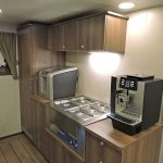 … and heated serving area on the messdeck.