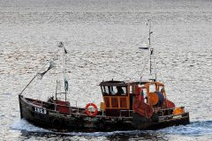 An extensively rebuilt Amethyst steaming in Loch Linnhe.