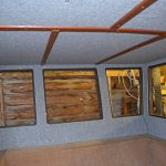 Lined upper half of the new wheelhouse…
