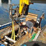 … and Gardner engine ashore.