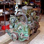 The Gardner 3LW engine was power-washed before being delivered to Malcolm Burge's workshop…