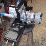 … and hydraulic pump were fitted at the fore end of the engine.