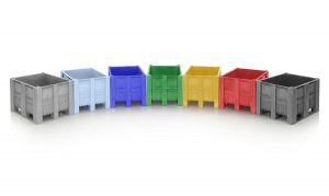 Craemer UK manufactures the popular CB3 heavy-duty pallet box in a wide range of colours.