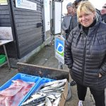 "Denise had driven down from East London, an hour and a half each way. ""I love fish, and this fish is fresh. I come down once a month or so to stock up the freezer."""