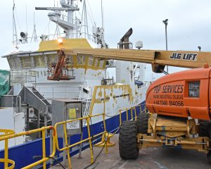 PBP Services repainting the Kilkeel midwater trawler Havilah.