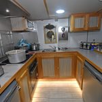 Westro's well-equipped and superbly finished galley.