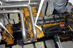 Westro's Caterpillar C18 main engine develops 447kW @ 1,800rpm…