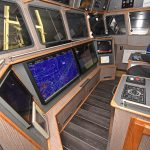 The customary array of wheelhouse electronic equipment was supplied and installed by Woodsons.