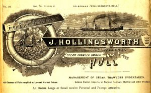 Ocean Queen was owned by J Hollingsworth, steam trawler owner/manager and fish salesman.