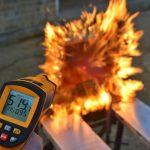 Fire-testing of plastic fuel tank materials in progress…